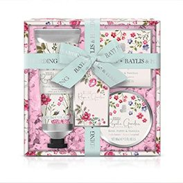 BAYLIS & HARDING ROYALE GARDEN ROSE, POPPY & VANILLA 3 PIECE SET