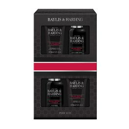 BAYLIS & HARDING MEN'S BLACK PEPPER & GINSENG 4PCS BOX