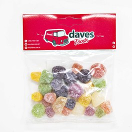 DAVES SWEETS BAGS AMERICAN HARD GUMS