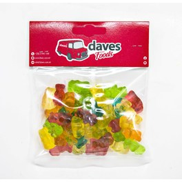 DAVES SWEETS BAGS GOLD TEDDY BEARS
