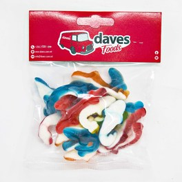 DAVES SWEETS BAGS JELLY SHARKS