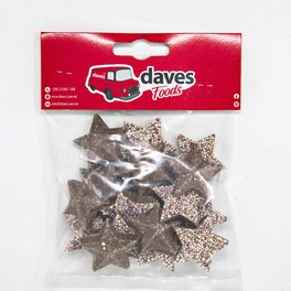 DAVES SWEETS BAGS JAZZIES CHOCOLATE STARS