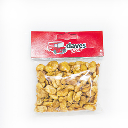 DAVES SNACKS BAGS ROASTED & SALTED BROAD BEANS