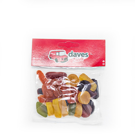 DAVES SWEETS BAGS WINE GUMS