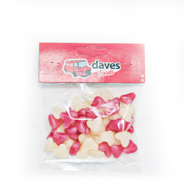 DAVES SWEETS BAGS JELLY BEAN LOVE HEARTS