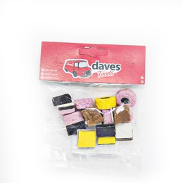 DAVES SWEETS BAGS LIQUORICE ALL SORTS