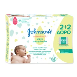 JOHNSON & JOHNSON BABY WIPES C/TOUCH 4X56 ECO PACK