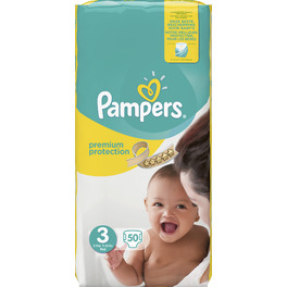PAMPERS VP NEW BABY 3 MIDI X50 (YELLOW PK)