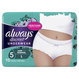 ALWAYS DISCREET PANTS LARGE X10 (NEW)