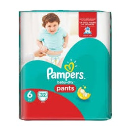PAMPERS VP BABY DRY 6 EXTRA LARGE X33