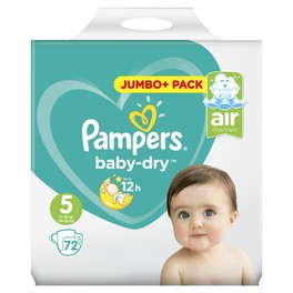 PAMPERS JUMBO BD 5 JUNIOR x72 (JUMBO)