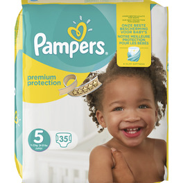 PAMPERS VP NEW BABY 5 JUNIOR X35 (YELLOW PK)