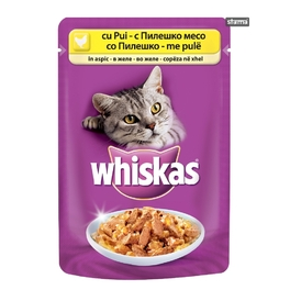 WHISKAS ADULT POUCH CHICKEN IN JELLY 100G