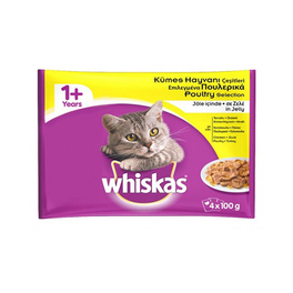 WHISKAS ADULT POUCH POULTRY SELECTION 4 PACK 100g