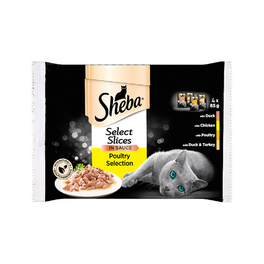 SHEBA POULTRY 4PACK 4 X 85G