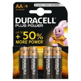 DURACELL PLUS POWER AA x4s