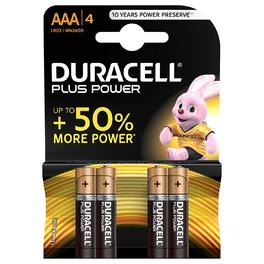 DURACELL PLUS POWER AAA x4s
