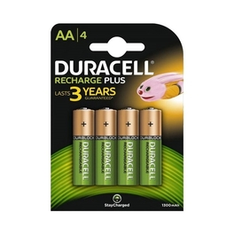 DURACELL RECHARGEABLE PLUS AA x4s (1300mAh)