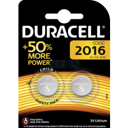 DURACELL SPEC LITHIUM COIN CELL BATTERY 2016 x2s