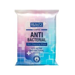 BEAUTY FORMULAS ANTI BACTERIAL SKIN CLEANSING WIPES x15