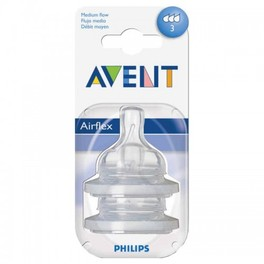 AVENT SILICONE TEATS 3M+3 HOLES AVENT(7071) SCF633/27