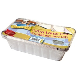 KINGFISHER FOIL CONTAINER WITH LID x5 SIZE  63x248x146mm
