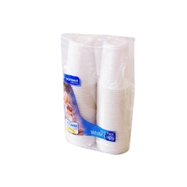 KINGFISHER PLASTIC CUPS WHITE X 100PK 8.5X7CM