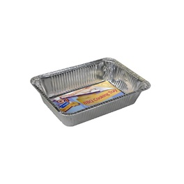 FOIL BBQ COOKING TRAY RECT. H48W218D156 5PKx24