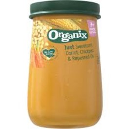 ORGANIX STAGE 3 6M+ SWEETCORN CARROT & CHICKPEA JAR 6X190GRS
