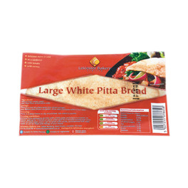 LEICESTER WHITE PITTA BREAD OVAL x6