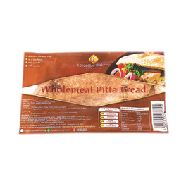 LEICESTER WHOLE MEAL PITA BREAD OVAL x6