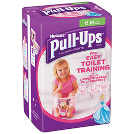HUGGIES PULL-UPS MEDIUM GIRL (14) 11-18KG
