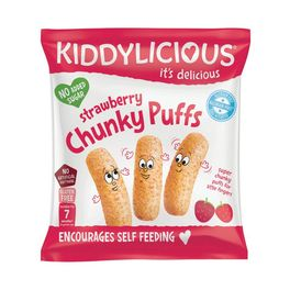 KIDDYLICIOUS STRAWBERRY CHUNKY PUFFS 12G