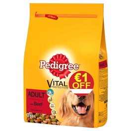 PEDIGREE DRY BEEF 3KGS - €1 OFF