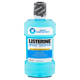 LISTERINE STAY WHITE MOUTHWASH 250ML €2.20 PROMO