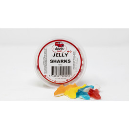 DAVES SWEETS BOWLS JELLY SHARKS 200G