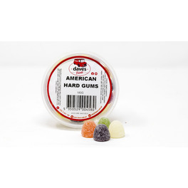 DAVES SWEETS BOWLS AMERICAN HARD GUMS 180G
