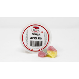 DAVES SWEETS BOWLS SOUR APPLES 160G