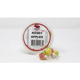 DAVES SWEETS BOWLS ROSEY APPLES 125G
