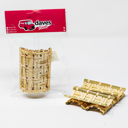 DAVES PARTY BAMBOO RECTANGLE TILE 11cm x 5 cm (5PCS)