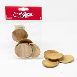 DAVES PARTY BAMBOO MINI ROUND DISH 60mm (6 PCS)