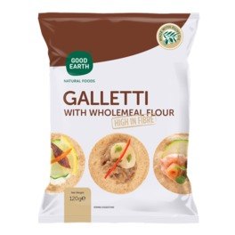 GOOD EARTH GALLETTI WHOLEMEAL 120G