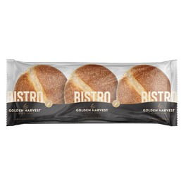 GOLDEN HARVEST BISTRO CORN DUSTED BUNS X3 270G