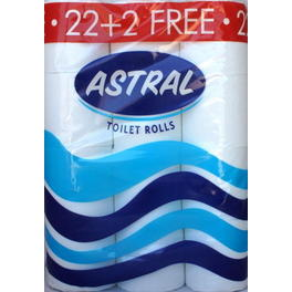 ASTRAL TOILET PAPER x24 (22+2 FREE)