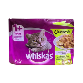 WHISKAS CASSEROLE POULTRY SELECTION 4 X 85G