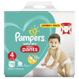 PAMPERS JUMBO PANTS 4 MAXI x72 (JUMBO)