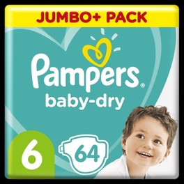 PAMPERS JUMBO BD 6 EXTRA LARGE x64 (NEW)