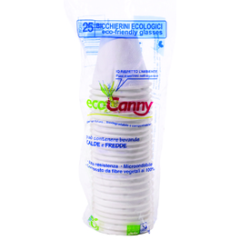 ECO CANNY COMPOSTABLE COFEE CUPS 80ML x25