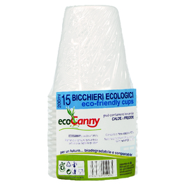 ECO CANNY COMPOSTABLE CUPS 200ML x15