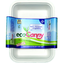 ECO CANNY COMPOSTABLE TRAY 2/3 PORTIONS x4PCS